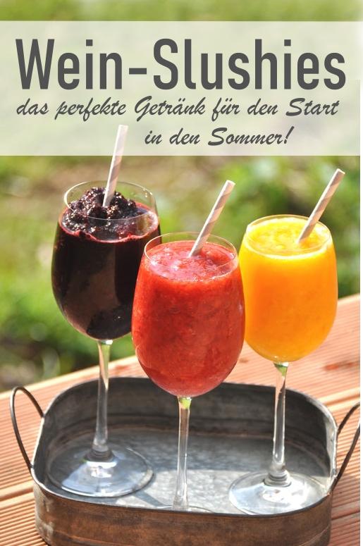 Wein Slushies, das perfekte Getränk für den Sommer - TK Früchte mit Eiswürfeln und Wein oder Prosecco in den Thermomix geben und mixen - super Erfrischung und das perfekte Getränk für die Terrasse