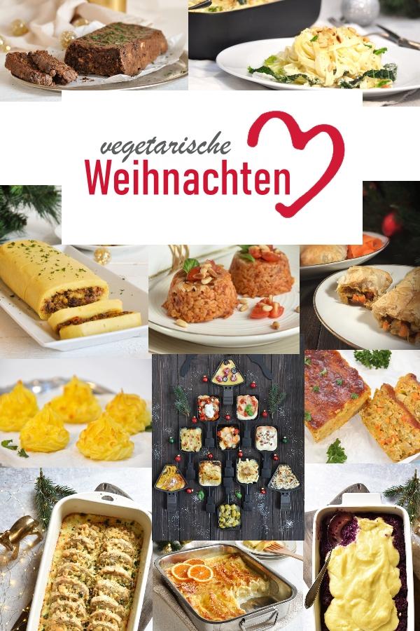 vegetarische Weihnachten mit Risotto Pasteten, Pasta, vegetarischem Braten, Rotkohl, Kartoffelpüree, Herzoginkartoffeln etc, Thermomix, entspannte Weihnachten, Weihnachtsmenü, teilweise vegan möglich