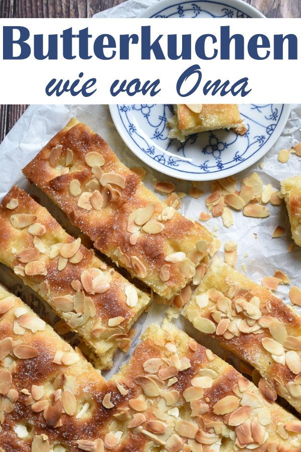 Butterkuchen wie von Oma, fluffig, lecker, Blechkuchen, Klassiker vegan möglich, Thermomix