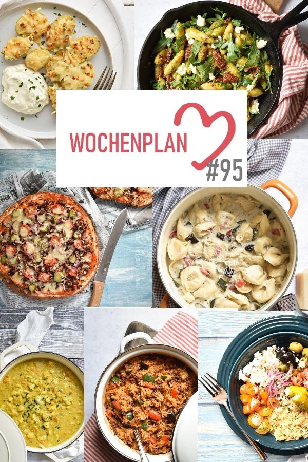 Was soll es die Woche bloß zu essen geben? Ich habe dir hier eine ganze Woche an leckeren Rezepten zusammengestellt - du kannst sie alle vegan oder vegetarisch kochen - der mix dich glücklich Wochenplan für den Thermomix - Nummer 95
