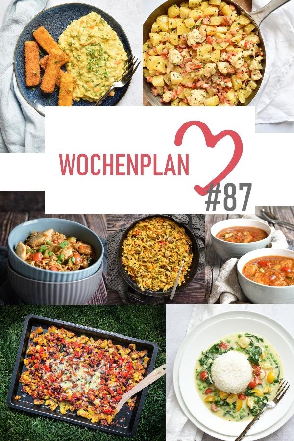 Was soll es die Woche bloß zu essen geben? Ich habe dir hier eine ganze Woche an leckeren Rezepten zusammengestellt - du kannst sie alle vegan oder vegetarisch kochen - der mix dich glücklich Wochenplan für den Thermomix - Nummer 87