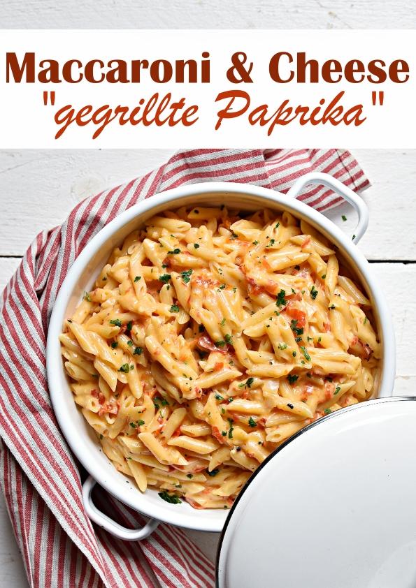 """Maccaroni & Cheese Version """"gegrillte Paprika"""" - im Thermomix gekocht als ALL IN ONE Gericht, vegan möglich, mit 500 g Nudeln, Familienküche, Mittagessen"""