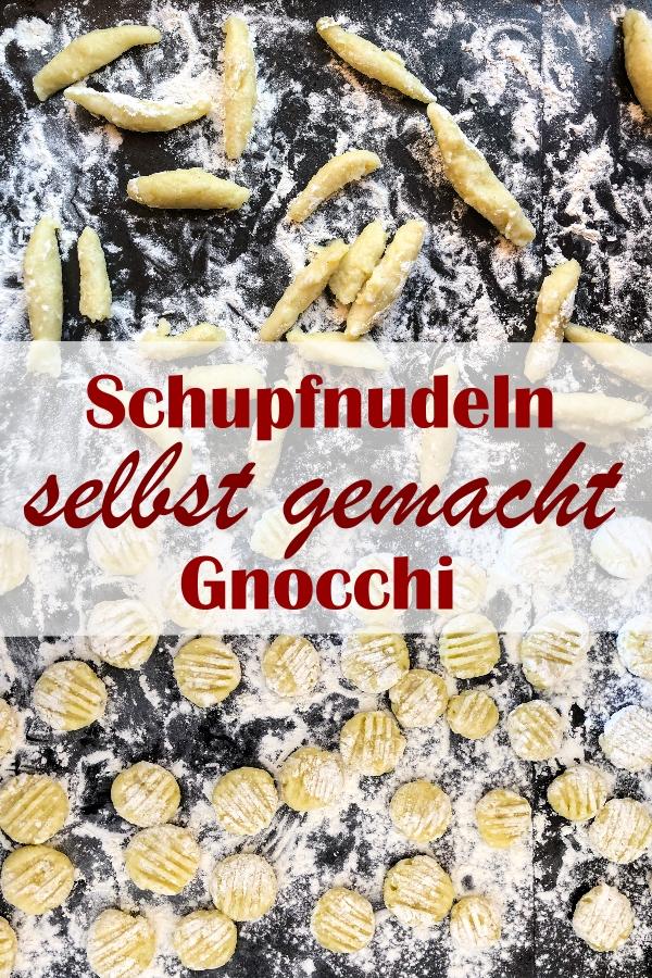 Schupfnudeln oder Gnocchi selbst gemacht, aus Kartoffeln und wenig Mehl und Hartweizengrieß, vegan, Thermomix, gut vorzubereiten