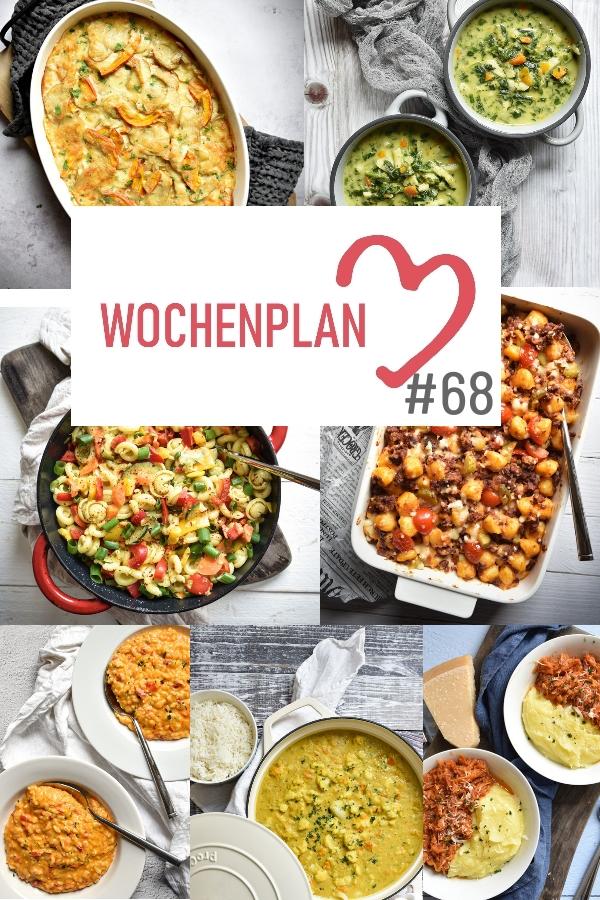 Was soll es die Woche bloß zu essen geben? Leckeres Gemüse, Pasta, Pizza oder lieber ein Curry oder Reisgericht? Hier kommt Wochenplan 68, Thermomix