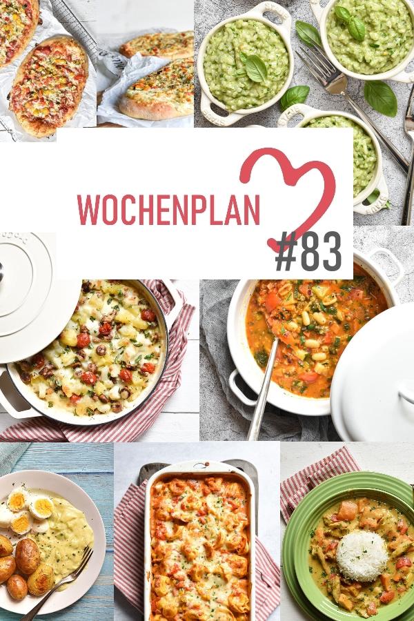 Was soll es die Woche bloß zu essen geben? Ich habe dir hier eine ganze Woche an leckeren Rezepten zusammengestellt - du kannst sie alle vegan oder vegetarisch kochen - der mix dich glücklich Wochenplan für den Thermomix - Nummer 83