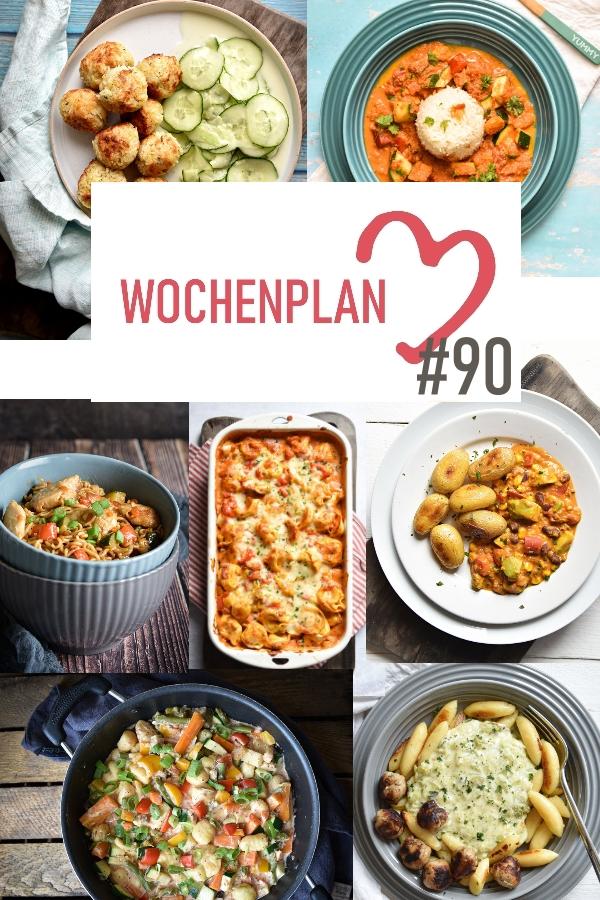 Was soll es die Woche bloß zu essen geben? Ich habe dir hier eine ganze Woche an leckeren Rezepten zusammengestellt - du kannst sie alle vegan oder vegetarisch kochen - der mix dich glücklich Wochenplan für den Thermomix - Nummer 90