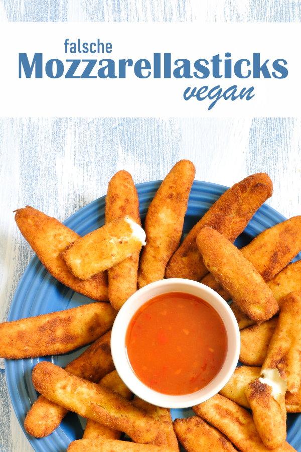falsche Mozzarellasticks, vegan, aus Cashewkernen, frittiert, Thermomix