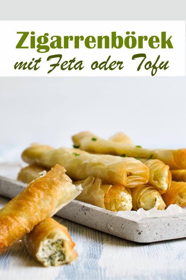 Zigarrenbörek mit Feta oder Tofu, super Snack für Buffet, Ausflug im Sommer, Vorspeisenteller etc., vegan machbar, vegetarisch, Thermomix