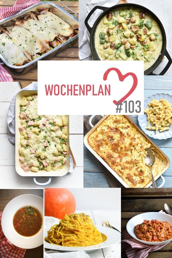 Was soll es die Woche bloß zu essen geben? Ich habe dir hier eine ganze Woche an leckeren Rezepten zusammengestellt - du kannst sie alle vegan oder vegetarisch kochen - der mix dich glücklich Wochenplan für den Thermomix - Nummer 103