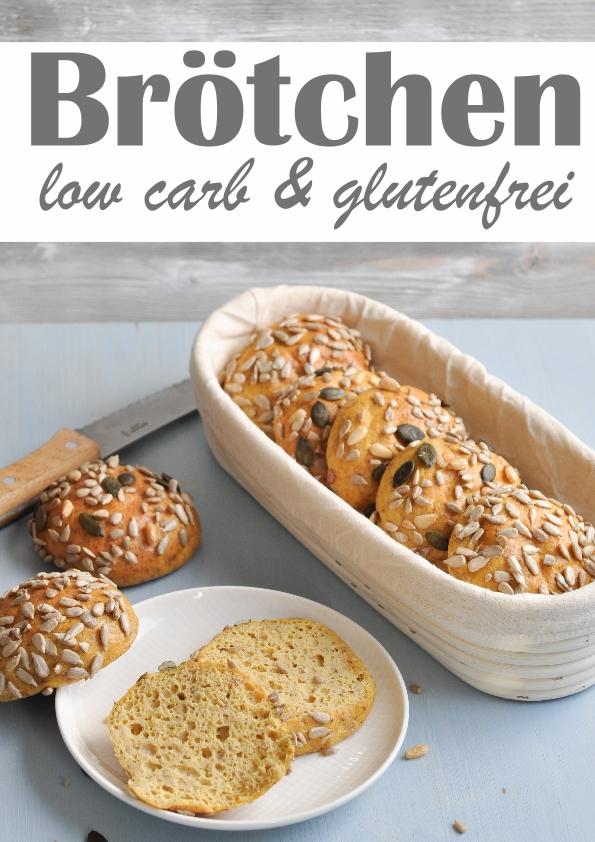 Glutenfreie Brötchen low carb aus Frischkäse, Quark und Ei, Thermomix