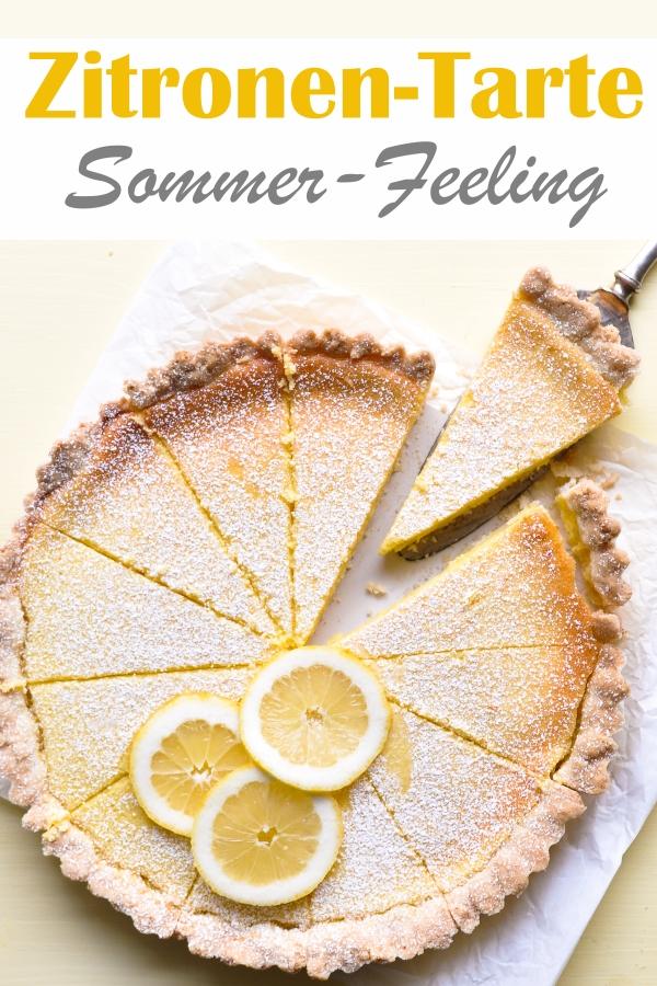 Zitronen Tarte Sommerfeeling auf dem Kaffeetisch, erfrischend, lecker, cremig, einfach zu machen, vegan möglich, Thermomix