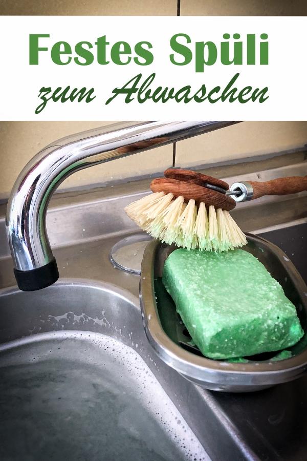 Festes Spülmittel als Spül-Bar oder eine Art Spül-Seife zum Abwaschen, wenn man kein Plastik in der Küche mehr haben möchte, vegan, Thermomix