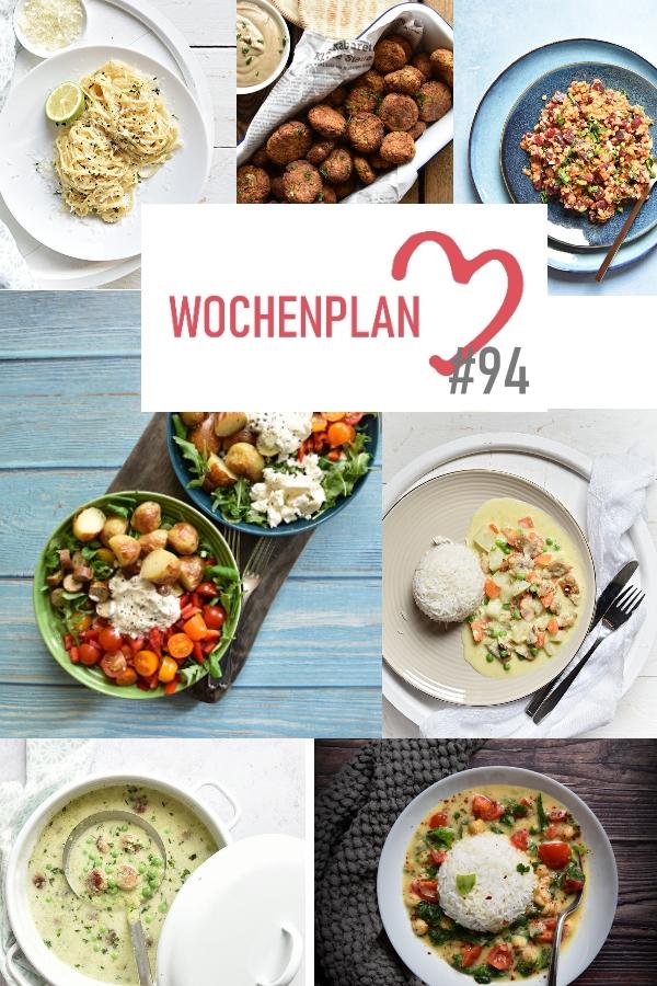 Was soll es die Woche bloß zu essen geben? Ich habe dir hier eine ganze Woche an leckeren Rezepten zusammengestellt - du kannst sie alle vegan oder vegetarisch kochen - der mix dich glücklich Wochenplan für den Thermomix - Nummer 94