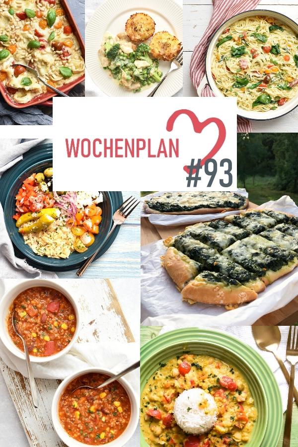 Was soll es die Woche bloß zu essen geben? Ich habe dir hier eine ganze Woche an leckeren Rezepten zusammengestellt - du kannst sie alle vegan oder vegetarisch kochen - der mix dich glücklich Wochenplan für den Thermomix - Nummer 93
