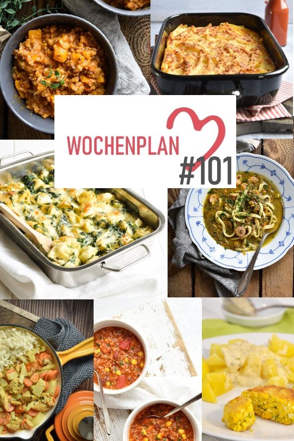 Was soll es die Woche bloß zu essen geben? Ich habe dir hier eine ganze Woche an leckeren Rezepten zusammengestellt - du kannst sie alle vegan oder vegetarisch kochen - der mix dich glücklich Wochenplan für den Thermomix - Nummer 101