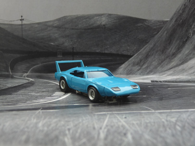 AURORA AFX Daytona Charger blau