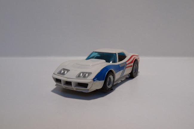 "AURORA AFX Corvette ""A"" Produktion weiß/Flagge #7"