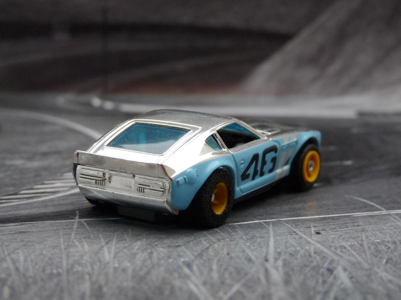 AURORA AFX Bre Datsun 240Z chrome / hellblau #46