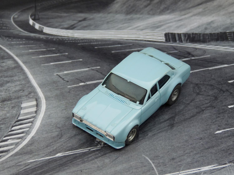 AURORA AFX Ford Escort blau