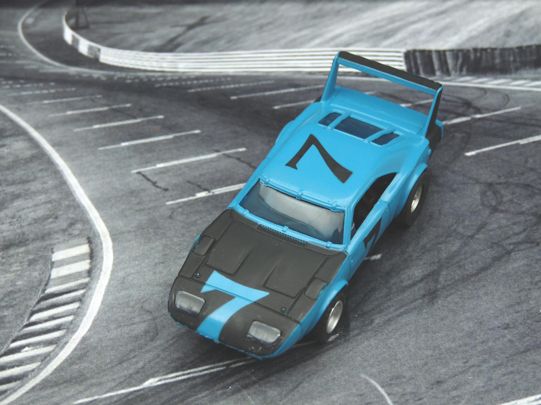 AURORA AFX Daytona Charger blau/schwarz mit Licht #7