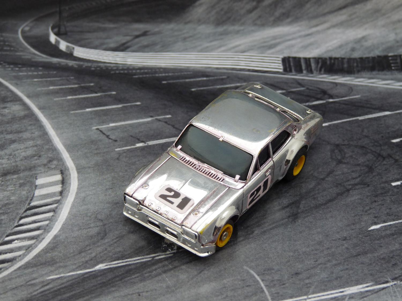 AURORA AFX Ford Escort chrome silber #21