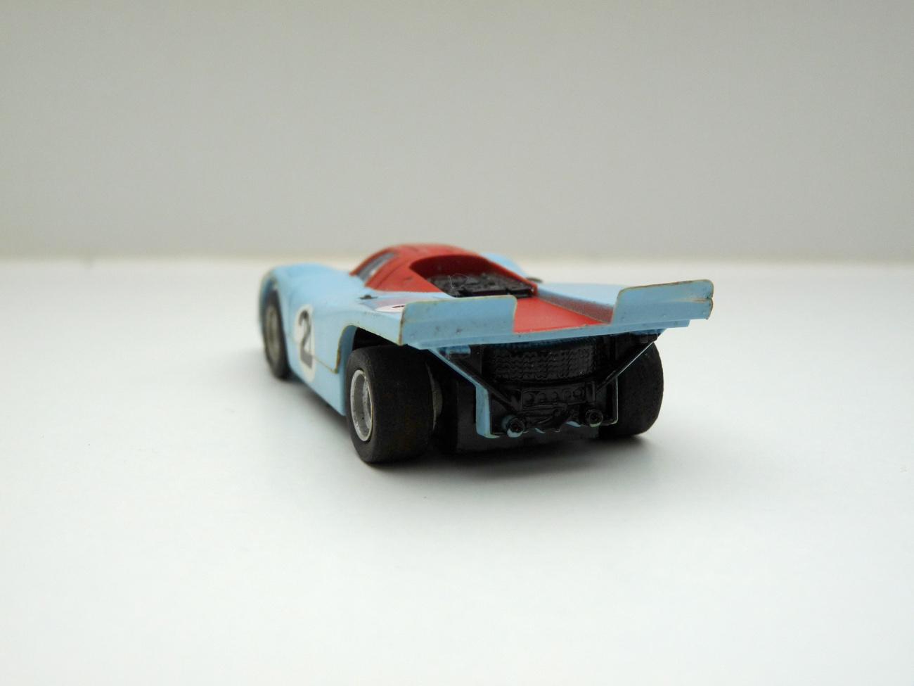 """AURORA AFX Porsche 917 hellblau/orange """"Gulf"""" #2 - klare Scheibe"""