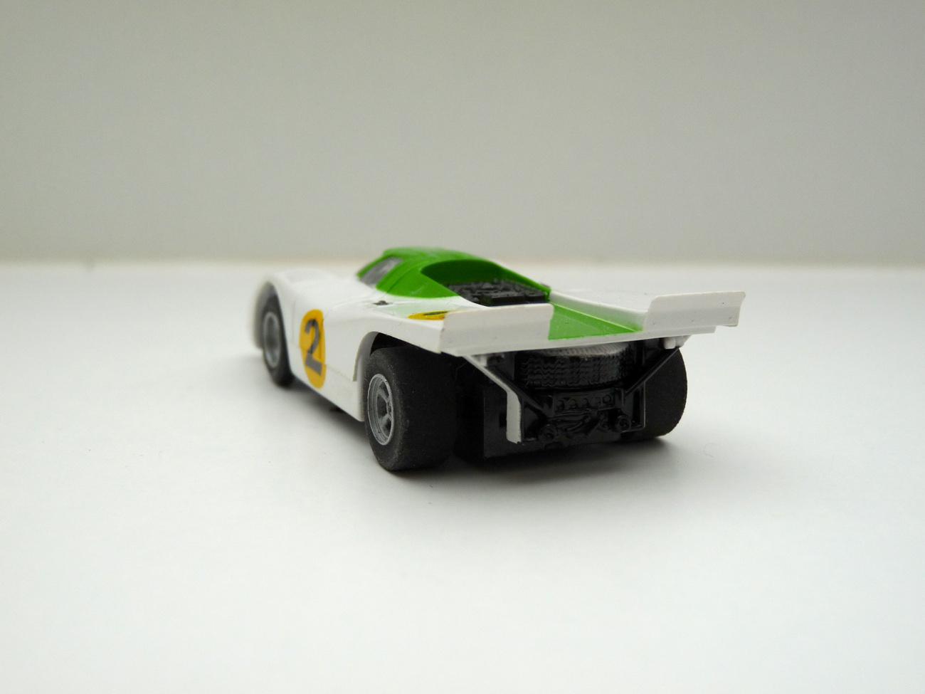 AURORA AFXPorsche 917 weiß/grün #2,klare Scheibe -offene Haube