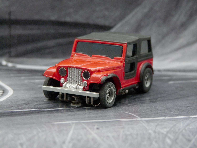 AURORA AFX Jeep CJ-7 rot
