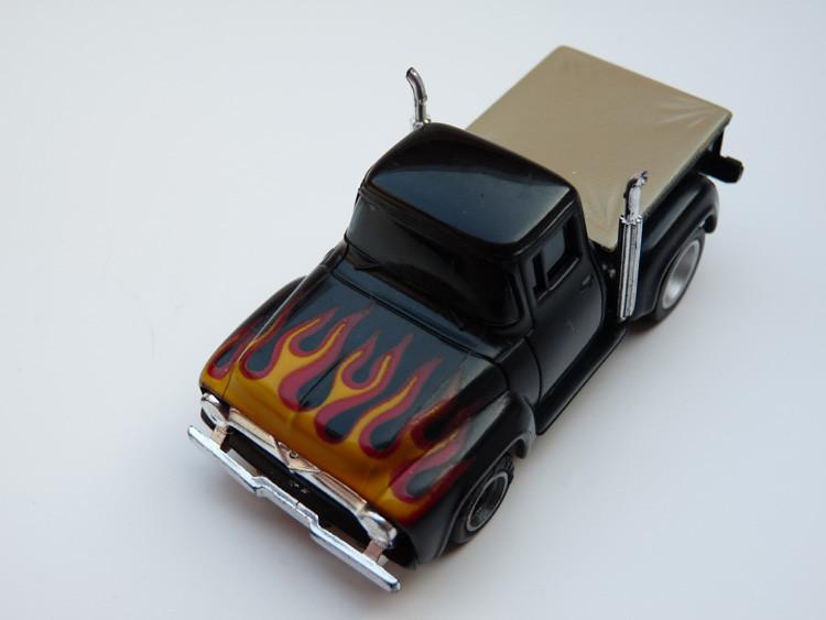 AURORA AFX '56 Ford Pick Up Truck schwarz/rot-gelbe Flammen