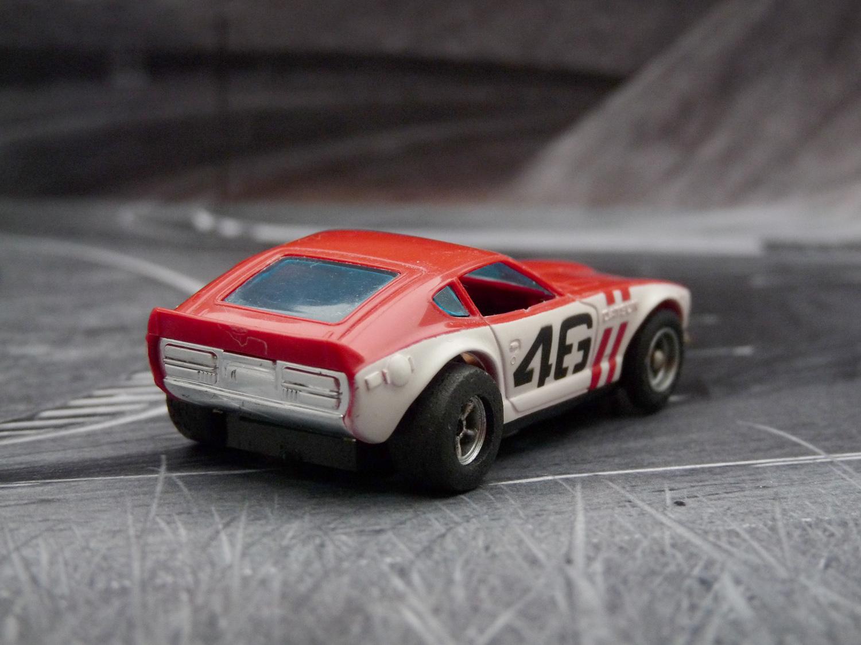AURORA AFX G-Plus Bre Datsun 240Z rot / weiß mit roter Streifen #46