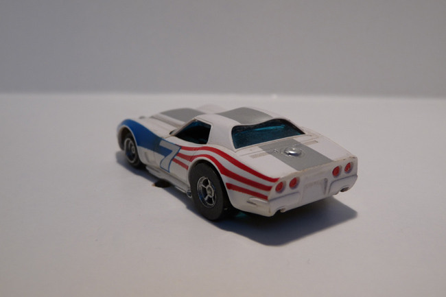 "AURORA AFX Corvette ""A"" Produktion weiß/silber/Flagge #7"