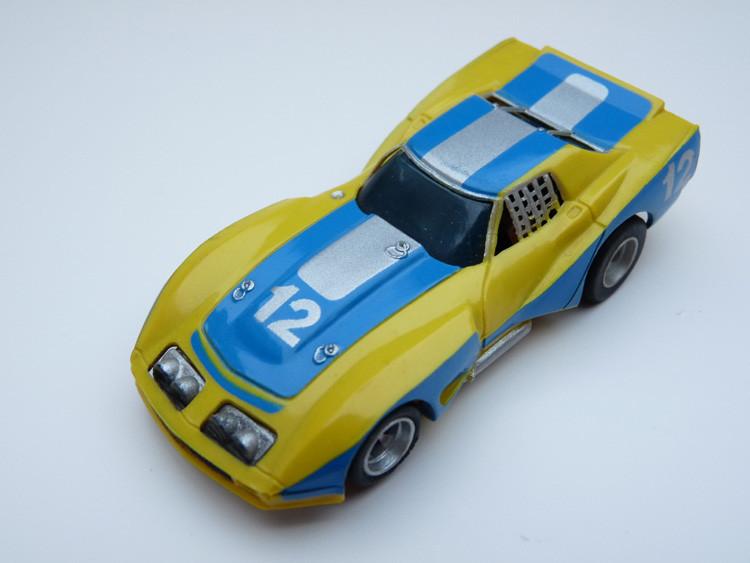 AURORA AFX Corvette GT gelb/blau/silber #12