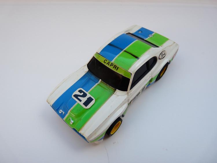 """AURORA AFX Ford Capri RS 2600 weiß/grün/blau #21 """"European Version"""""""