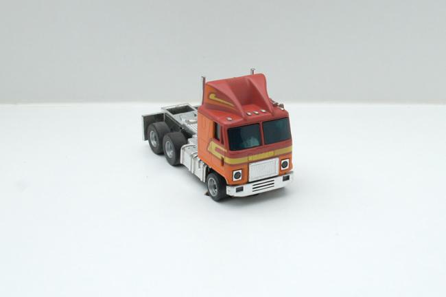 AURORA AFX GMC Astro 95 Cab Truck rot/orange/gelb