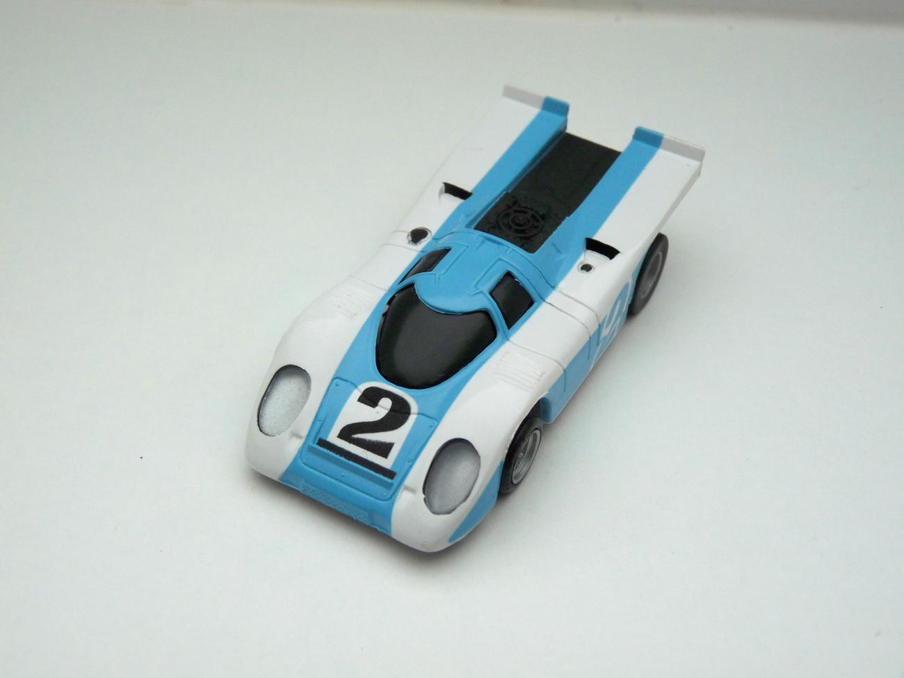 AURORA AFX Porsche 917k weiß/hellblau # 2