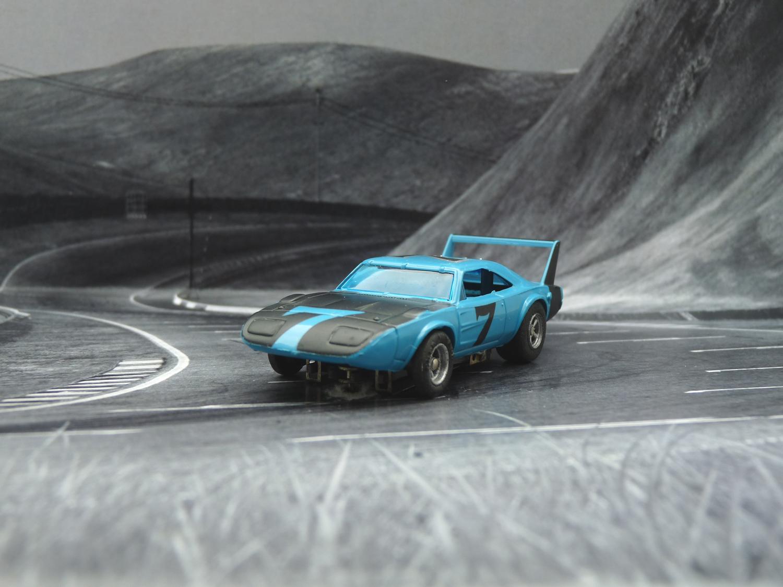 AURORA AFX Daytona Charger blau/schwarz