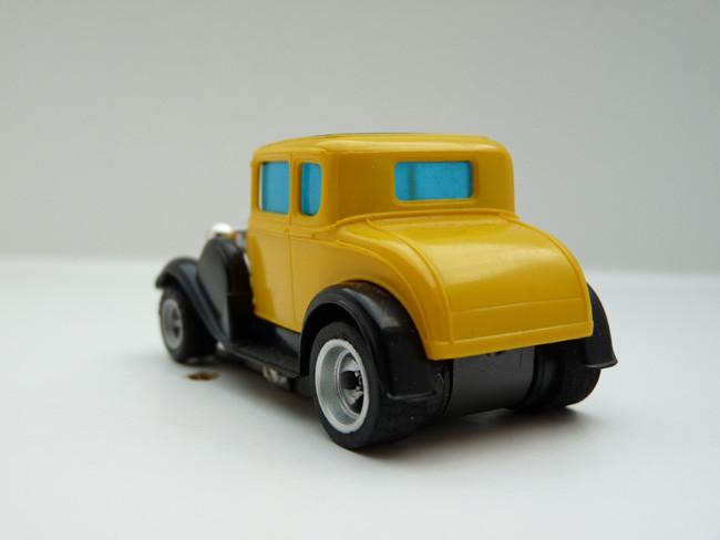 """AURORA AFX 1930 Ford Coupe Model """"A"""" gelb / schwarz"""