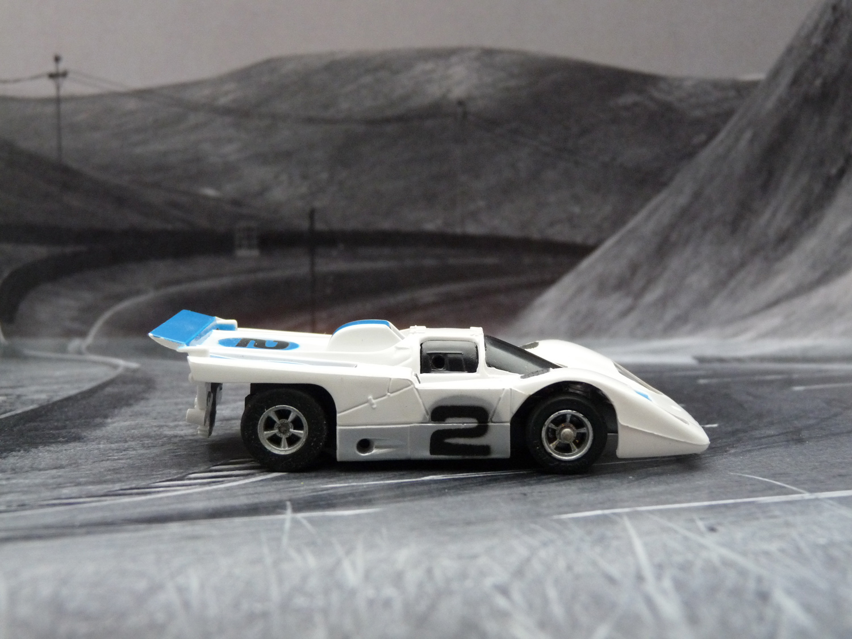 AURORA AFX Ferrari 512M weiß/blau/silber #2