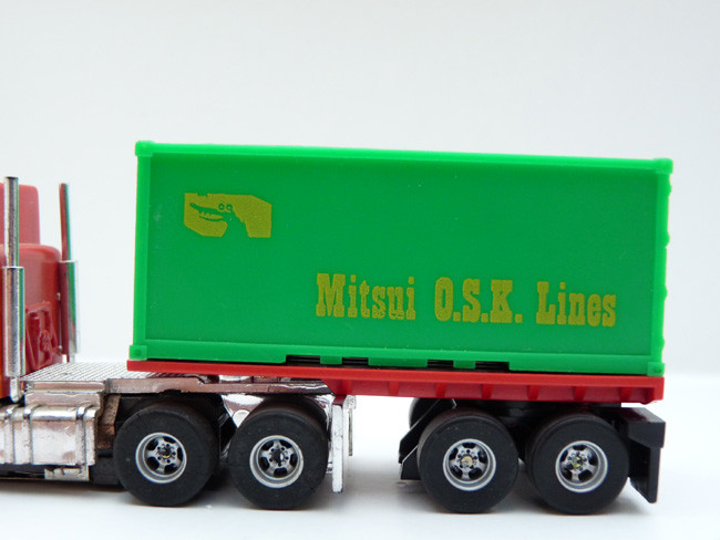 AURORA AFX '20 Flatbed w. green Container Mitsui O.S.K. Lines
