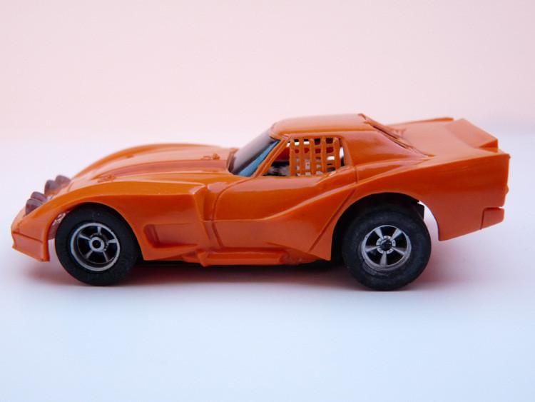 AURORA AFX Corvette GT orange