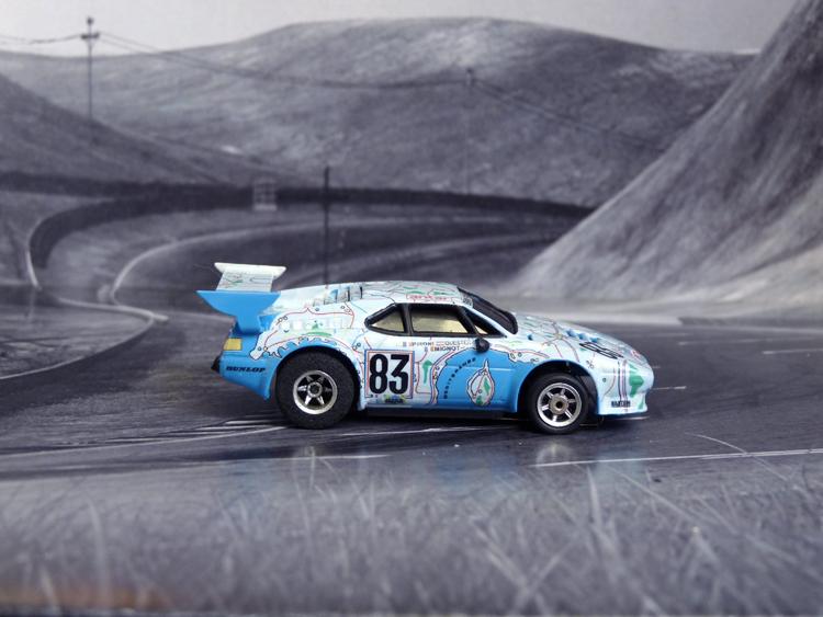 BMW M1 Map of France # 83, 24h Le Mans 1980