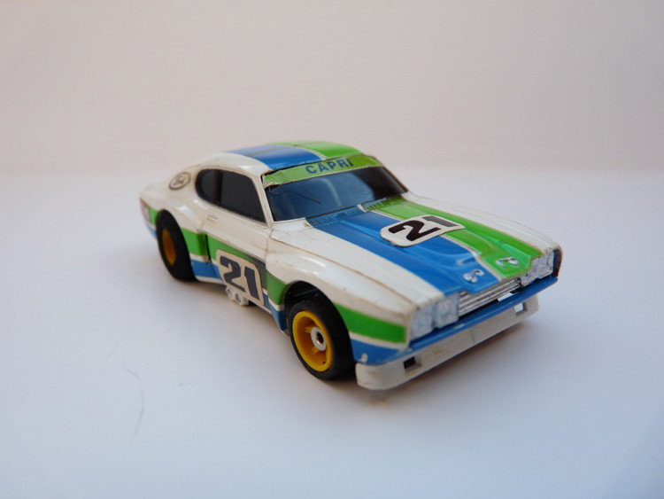 "AURORA AFX Ford Capri RS 2600 weiß/grün/blau #21 ""European Version"""