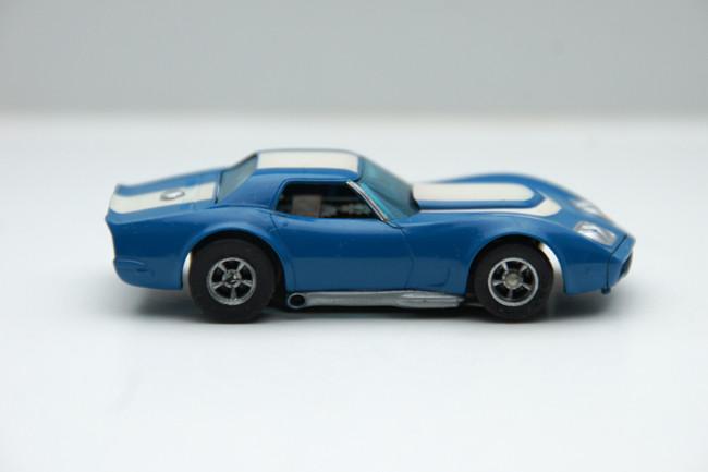 """AURORA AFX Corvette """"A"""" Produktion blau/weiß #1927"""