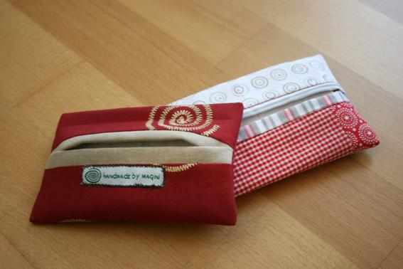 Täschchen für Taschentücher oder andere Kleinigkeiten - nach einer Anleitung von Gabriele / Congabaeren