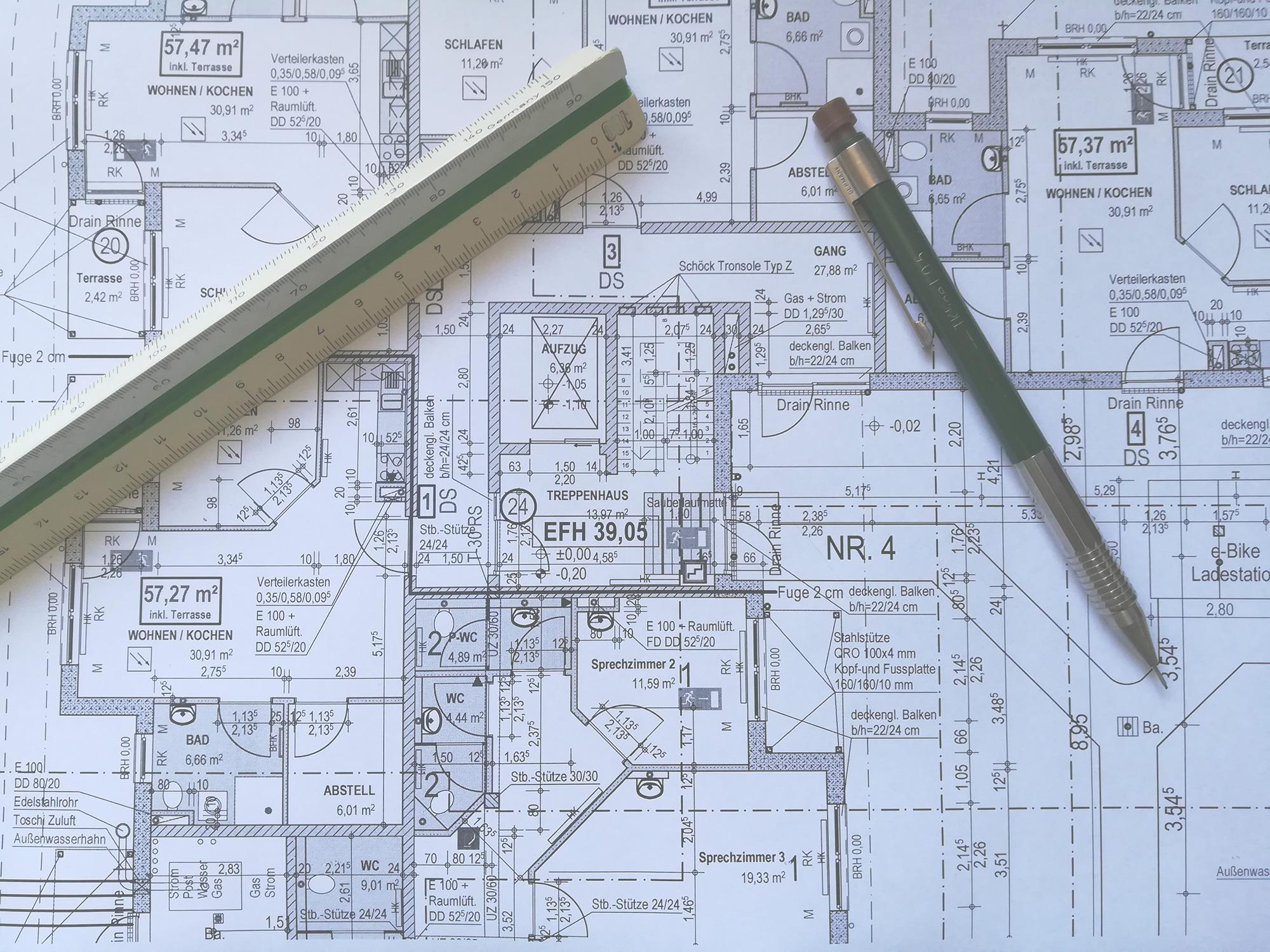 Meine Leistungen - Ihr CAD Diestleister für jede Art von Bauzeichnung
