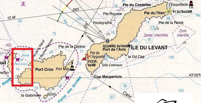 Nouvelle réglementation concernant le mouillage entre Port-Cros et Bagaud