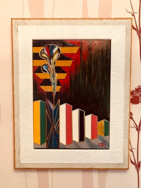 Unterschiedliche Lichtbrechung schickt den Betrachter in seine ganz eigene innere Gedankenwelt, bei dieser Farbfontäne.