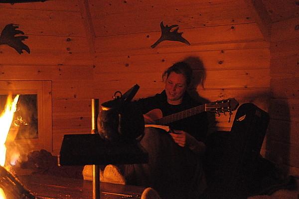 Stimmungsvoller Abend in Lappland
