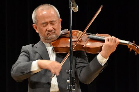 平和コンサート ゲストのビオラ奏者 沖田孝司さん
