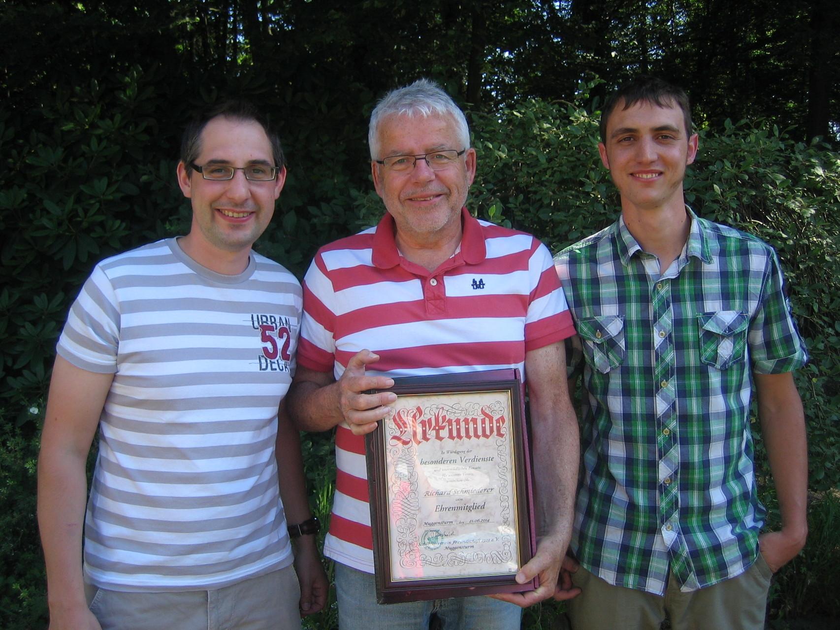 Ernennung von Richard Schmiederer zum Ehrenmitglied